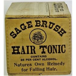 New Old Stock Sage Brush Tonic crate