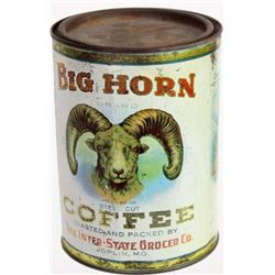 Hard to find Big Horn Coffee tin