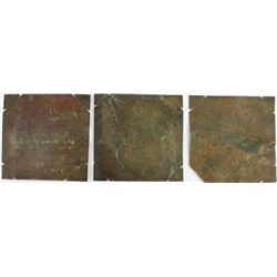 Collection of 3 copper plates