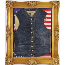 Civil War officers wool vest
