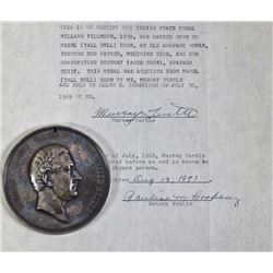 President Millard Fillmore 1850 Indian peace medal