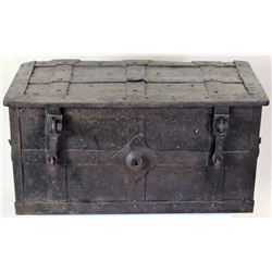 17th C. iron bound armada or treasure chest,