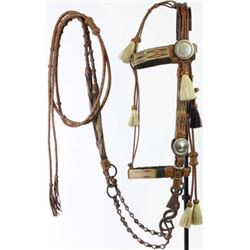 Wyoming prison made horsehair bridle