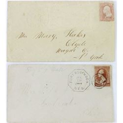 Collection of 2 rare envelopes