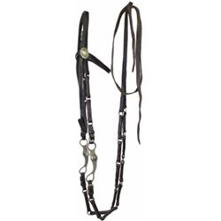 Unusual linked leather pony bridle