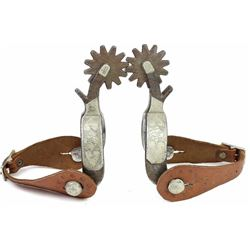 Unmarked Kelly heart and diamond spurs