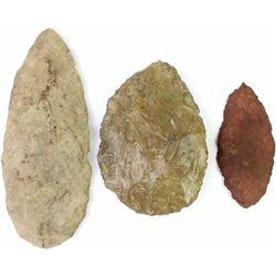 Collection of 3 Native stone artifacts