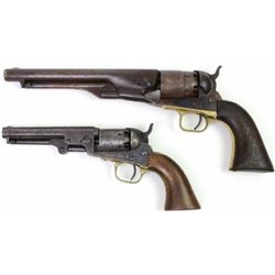 Collection of 2 antique Colt revolvers