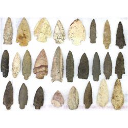 Collection of 26 stone points