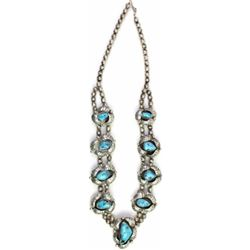 Navajo sterling and turquoise necklace