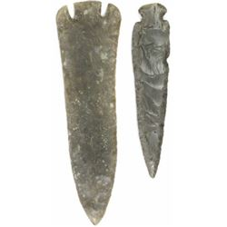 Collection of 2 large stone points