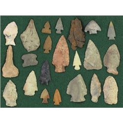 Collection of 22 stone artifacts