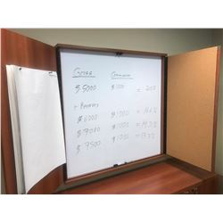 CHERRY WALL MOUNT 2 DOOR CONFERENCE BOARD  (UPSTAIRS)