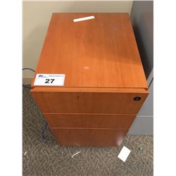 CHERRY 3 DRW. FILE PEDESTAL (UPSTAIRS)