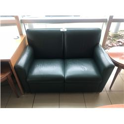 DARK GREEN RECEPTION LOVESEAT