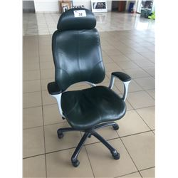 GLOBAL LEATHER HIBACK ERGONOMIC EXECUTIVE CHAIR