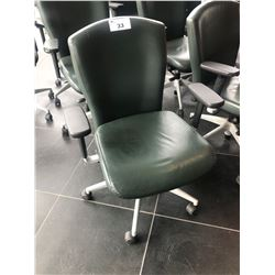 GLOBAL LEATHER MID BACK ERGONOMIC EXECUTIVE CHAIR