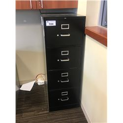 BLACK 4 DRW. LEGAL FILE CABINET