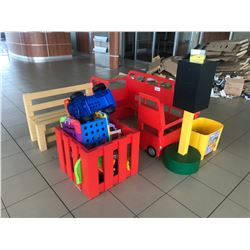 CHILDREN'S PLAY AREA FURNITURE AND TOYS
