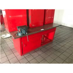 6' RED SHOP BENCH WITH VISE