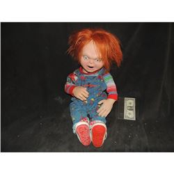 CHUCKY PUPPET FROM SUPER BOWL RADIO SHACK COMMERCIAL COMPLETE WITH WARDROBE!