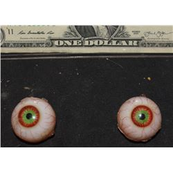 BLOODSHOT GREEN EYES FOR PUPPET OR SILICONE HEAD