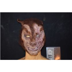 BURNED WEREWOLF MASK FROM UNKNOWN PRODUCTION