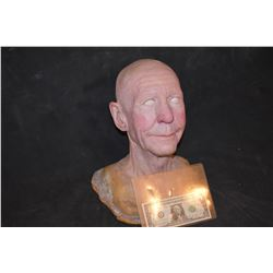 SEVERED SILICONE OLD WOMAN HEAD
