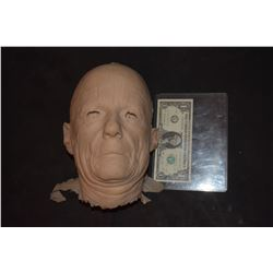 SEVERED SILICONE OLD MAN HEAD