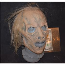 GRIMM SCREEN USED ROTTEN ZOMBIE SILICONE MASK WITH HAND PUNCHED HAIR