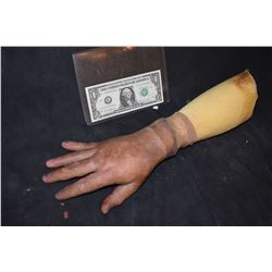 SEVERED SILICONE HAND WITH ARM