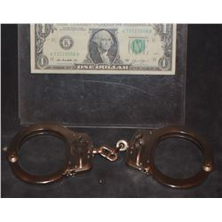 ZZ_CLEARANCE SPIDER-MAN 3 SCREEN USED HAND CUFFS WITH KEYS