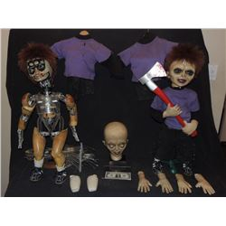 SEED OF CHUCKY SCREEN USED & MATCHED HERO GLEN ANIMATRONIC & ARMATURED PUPPETS W/ WEAPONS