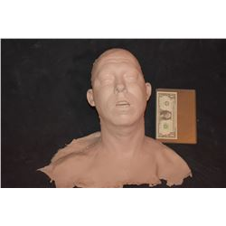 SEVERED SILICONE UNPAINTED HEAD WITH BUST