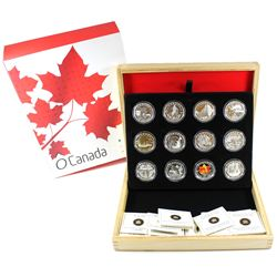 RCM Issue: 2013 Complete $10 O Canada 12-Coin Fine Silver Set with Deluxe Box. The Polar Bear Coin h