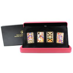 RCM Issue: 2008 Canada Complete 4-coin Playing Card Money Sterling Silver Set in Deluxe Case (coins