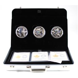 RCM Issue: 2017 $20 Canada Aircraft of WWII Fine Silver 3-coin Set in Deluxe Display Case. TAX Exemp