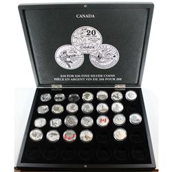 RCM Issue: Lot of 2011-2016 Canada $20 for $20 & $25 for $25 Fine Silver Coins in Deluxe Volterra Co