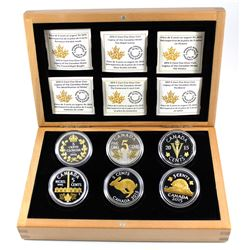 RCM Issue: 2015 Legacy of the Canadian Nickel Fine Silver 6-coin Set in Deluxe Display Case (some ca