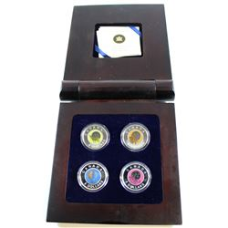 RCM Issue: 2011-2012 Canada $5 Full Moons of the Algonquin 4-coin Sterling Silver and Niobium Set in