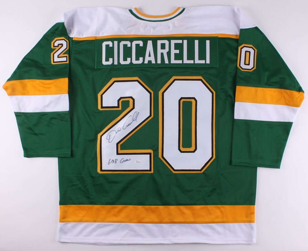 Image 1   Dino Ciccarelli Signed North Stars Jersey Inscribed