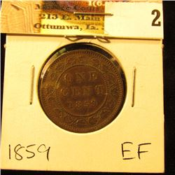 1859 Canada Large Cent, EF.