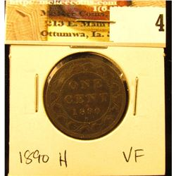 1890H Canada Large Cent, VF.