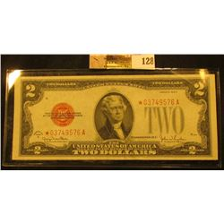 $2.00. Friedberg 1508 Star Replacement Note 1928G. No.*03749576a. Choice Crisp Uncirculated with exc