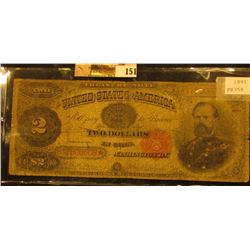 Series 1891 Two Dollar Treasury Star Replacement Note, S/N B17806608*, Signed Bruce/Roberts, Friedbe