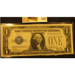 """Series 1928B One Dollar Silver Certificate """"Funny Back"""", S/N G93216530B, signed by Woods/Mills, Frie"""