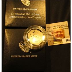 2014 National Baseball Hall of Fame Proof Silver Dollar in original box as issued.
