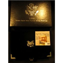 1994 S United States Mint Premier Silver Proof Set in original box as issued.