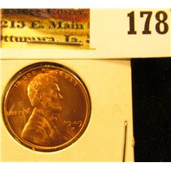 1949 D Lincoln Cent, Red Gem BU.