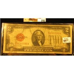 """Series 1928G Two Dollar United States Note """"Red Seal"""""""